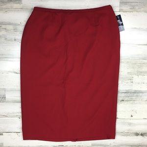 NWT Karen Scott Plus Size Red Skirt 24W